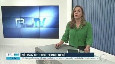 Grávida de oito semanas que levou um tiro semana passada perde o bebê - A mulher segue internada na UTI. O autor do tiro foi preso em São João da Barra.