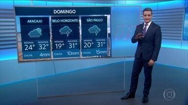 Veja a previsão do tempo para o domingo (16) em todo o país - Há avisos de temporais em pontos de todas as regiões.