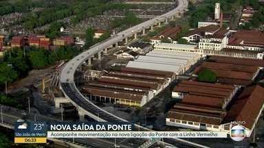 Alça que liga a Ponte Rio-Niterói à Linha Vermelha é inaugurada - Obra durou 20 meses e promete melhorar o transito da Ponte na chegada ao Rio de Janeiro.