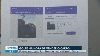 Golpistas enganam a dona de um carro aqui em Campina Grande - Veja como foi na reportagem de Laisa Grisi.
