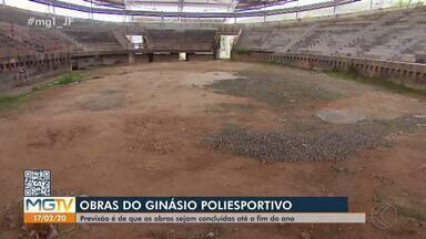 Prefeitura prevê término as obras do ginásio poliesportivo para dezembro - Município aguarda aprovação da Caixa para retomar atividades. Construção começou em 2008
