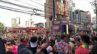 Três baleados em bloco ainda estão internados em São Paulo - Só no Estado de SP, no último fim de semana, 413 pessoas foram presas.