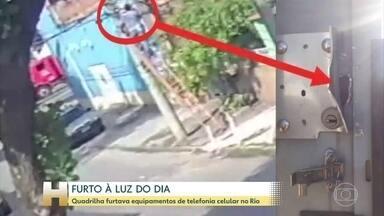 Quadrilha furta baterias usadas por empresas de telefonia celular no Rio - Dois homens estão presos.