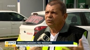 Motoristas desrespeitam leis do trânsito em Manaus - Motoristas desrespeitam leis do trânsito em Manaus