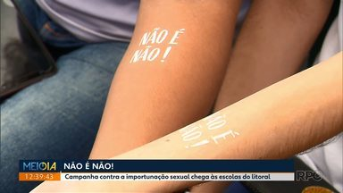 Campanha do Não é Não chega às escolas do litoral - A campanha prevê tatuar 5 mil mulheres durante o carnaval, contra a importunação sexual