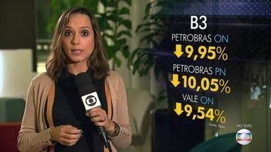 Ibovespa fecha em queda de 7% e tem pior desempenho desde maio de 2017 - Nesta quarta-feira, o Ibovespa recuou 7%, a 105.718 pontos. Foi a maior queda desde 18 de maio de 2017, quando o mercado repercutiu a divulgação das conversas do ex-presidente Michel Temer com o dono da JBS.