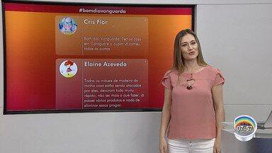 Veja a participação do público no Bom Dia Vanguarda - Público comenta estragos com a chuva na região.