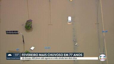 São Paulo registra fevereiro mais chuvoso em 77 anos - Já choveu 483,6 mm até o dia 27. O mês ainda tem mais dois dias.