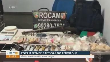 Oito pessoas são presas durante operação policial em Manaus - Prisões ocorreram no bairro Petrópolis.