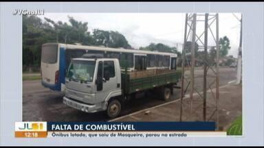 Usuários denunciam falta de combustível em ônibus que faz a linha Mosqueiro-Belém - Usuários denunciam falta de combustível em ônibus que faz a linha Mosqueiro-Belém