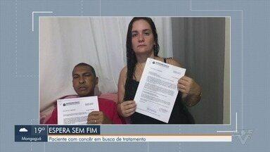 Morador de Guarujá luta contra câncer e busca de tratamento - Paciente tem câncer de rinofaringe e está à espera de tratamento especializado.