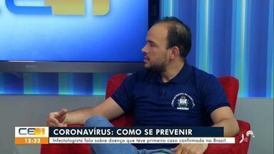 Infectologista fala sobre como se prevenir contra o coronavírus - Saiba mais em g1.com.br/ce