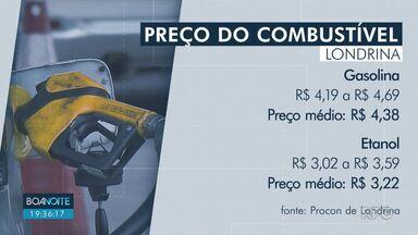 Veja a média de preços dos combustíveis em Londrina - Pesquisa divulgada pelo Procon aponta o preço médio do etanol e da gasolina em 95 postos da cidade