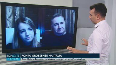 Fotógrafa de PG que mora na Itália fala sobre rotina após avanço do novo Coronavírus - Ela e o marido ainda estão indo trabalhar, mas vários eventos foram cancelados.