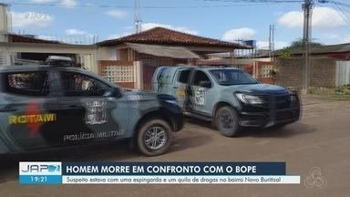Procurado por tráfico de drogas armado com espingarda morre em tiroteio, em Macapá - Maxfran Nunes da Costa, de 29 anos, morreu após confronto armado com militares do Batalhão de Operações Especiais (Bope) dentro de um apartamento numa vila de kitnets, no bairro Novo Buritizal, na Zona Sul.