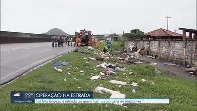 Operação na Imigrantes retira dependentes de drogas da rodovia - Um morador de rua morreu atropelado na rodovia durante o feriado de carnaval.