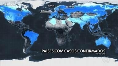 Além da China, 46 países registram casos do novo coronavírus - Vírus já chegou a todos os continentes, menos à Antártica. A cada dia, mais países registram os primeiros casos.