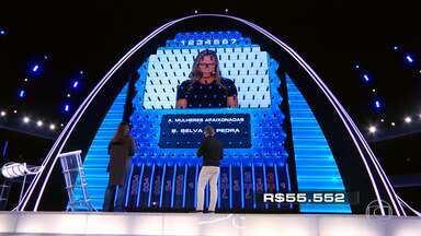 Vivian tenta responder as perguntas do 'The Wall' - Anna Luísa segue arriscando contra a parede