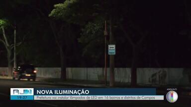 Prefeitura vai instalar lâmpadas de LED em 16 bairros e distritos de Campos - Município arrecada cerca de trinta milhões de reais com taxa de iluminação por ano