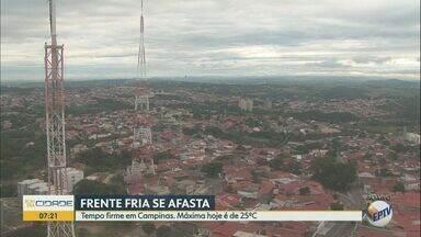 Sol volta a aparecer em Campinas nesta sexta-feira (28); veja previsão do tempo - Apesar do tempo menos encoberto, temperatura se mantém amena na cidade, com máxima de 25º C.