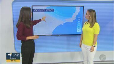 Confira a previsão do tempo para as regiões central e de Ribeirão Preto nesta sexta (28) - Chuva se mantém na região de Ribeirão Preto (SP). Na cidade, temperatura máxima chega a 28º C e 8 milímetros de precipitação são previstos.