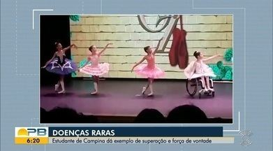Estudante de Campina Grande dá exemplo de superação e força de vontade - Confira os detalhes na reportagem de Waléria Assunção.
