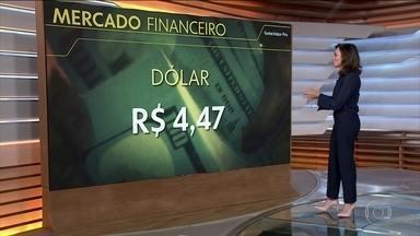 Dólar dispara e bolsas despencam com avanço do coronavírus - A moeda americana fechou no maior patamar da história, a R$4,47. As bolsas da Europa e da Ásia também registraram queda.