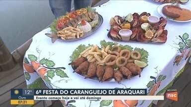 Começa festa do caranguejo em Araquari - Começa festa do caranguejo em Araquari