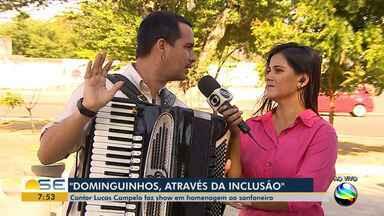Espetáculo em homenagem a Dominguinhos acontece em Aracaju e aborda a inclusão - Evento conta com participações de pessoas com deficiência, como o cantor Lucas Aribé, o sanfoneiro Evanilson Vieira e o coral da Associação dos Deficientes Visuais de Sergipe.