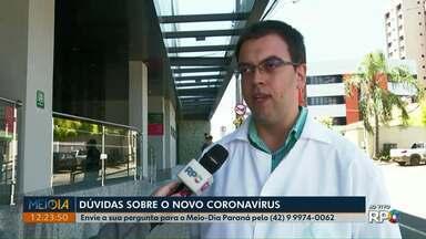 Médico esclarece dúvidas de telespectadores sobre o novo coronavírus - Encomendas da China podem transmitir doença? Bomba do chimarrão pode transmitir o vírus? Veja as respostas na reportagem.