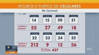 Polícia registra diversos casos de furtos de celulares durante o carnaval de Florianópolis - Polícia registra diversos casos de furtos de celulares durante o carnaval de Florianópolis