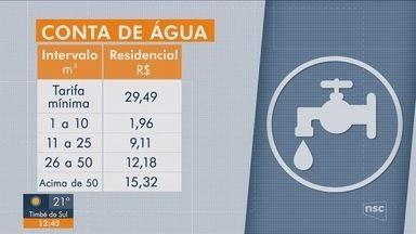 Nova tarifa de água da Casan visa estimular consumo consciente; veja o que muda - Nova tarifa de água da Casan visa estimular consumo consciente; veja o que muda