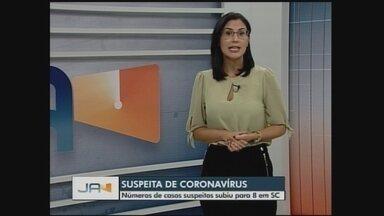Número de casos suspeitos de coronavírus em SC sobe para oito - Número de casos suspeitos de coronavírus em SC sobe para oito