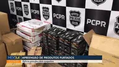 Polícia apreende carga de produtos eletrônicos e ferramentas elétricas - Dois suspeitos de roubo foram presos.