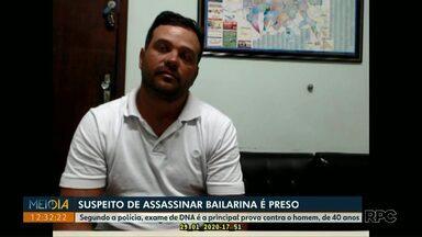 Polícia ouve suspeito de ter assassinado a bailarina Magó - Segundo a polícia, exame de DNA é a principal prova contra o homem, de 40 anos.