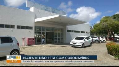 Exame descarta coronavírus em paciente internado em João Pessoa - Resultado de exame divulgado na sexta-feira (28) descartou que paciente de 59 anos do Hospital Clementino Fraga esteja com coronavírus.