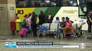 Tarifa de embarque na Rodoviária de BH vai aumentar 46% a partir deste domingo - Medida atinge oito linhas metropolitanas que usam a estrutura do terminal.