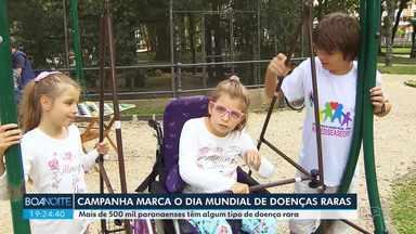 Campanha marca o dia mundial de doenças raras - Mais de 500 mil paranaenses têm algum tipo de doença rara.