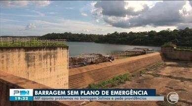 MP aponta problemas na barragem Salinas e pede providências - MP aponta problemas na barragem Salinas e pede providências