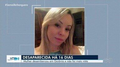 Família pede ajuda para encontrar mulher desaparecida há 16 dias em Goiânia - Mulher voltou da Colômbia e quando desembarcou em Goiânia e não foi mais vista.
