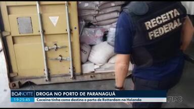 Receita federal apreende cocaína no porto de Paranaguá - Droga tinha como destino o porto da Holanda.
