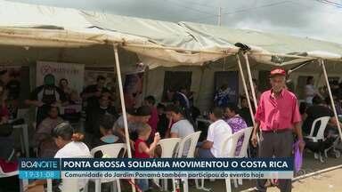 Ponta Grossa Solidária reúne centenas de pessoa neste sábado - Primeira edição do evento levou serviços gratuitos para moradores de Ponta Grossa.