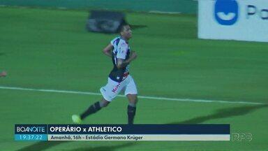 Operário enfrenta o Athletico no domingo (1) - Fantasma recebe o Furacão no Estádio Germano Krüger.