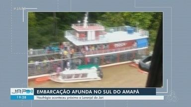 Naufrágio de embarcação de médio porte deixa mortos e desaparecidos no Sul do Amapá - Navio ia para Santarém (PA), mas afundou na região do Jari. Comandante pediu socorro após vento fazer passageiros caírem na água