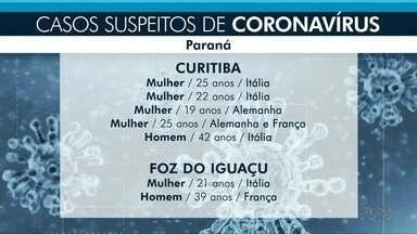 Sobe o número de casos suspeitos de coronavírus no estado - No Paraná 14 pacientes são monitorados em cinco cidades.