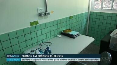 Prédio públicos são alvos frequentes de criminosos em Foz do Iguaçu - A Secretaria de Segurança Pública afirma que vai aumentar o número de câmeras de monitoramento.