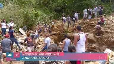 Cenário é desolador na baixada santista, onde mortos já chegaram a 27 - Confira as últimas informações sobre o terceiro dia de buscas no Guarujá e em Santos