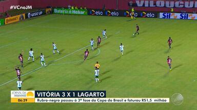 Vitória vence o Lagarto e avança para a próxima fase da Copa do Brasil - Time baiano venceu o sergipano pro 3 a 1.