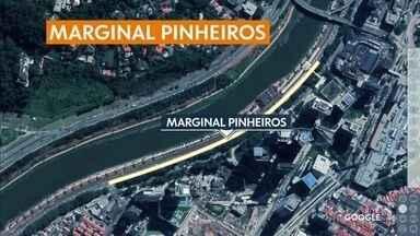 Capital tem pontos de interdição nesse final de semana - Trecho da pista local da Marginal Pinheiros será interditada para obras do monotrilho