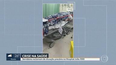 Servidores da Fhemig reclamam da situação precária do Hospital João XXIII - Em greve há quase dois meses, funcionários relatam fim de semana de caos em uma das mais importantes unidades de saúde de Minas.